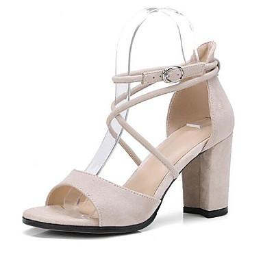 Rose Bottier Talon 06858729 Daim Amande Confort Noir Eté Femme Sandales Chaussures fFSYcqYA8