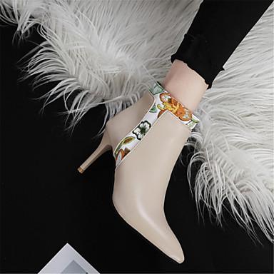 Beige Botte Bottes amp; pointu Polyuréthane Bottine Demi 06857349 Bout à Mode Automne Femme Aiguille la Evénement Soirée Bottes Chaussures Noir hiver Talon 7n5wTHHZx