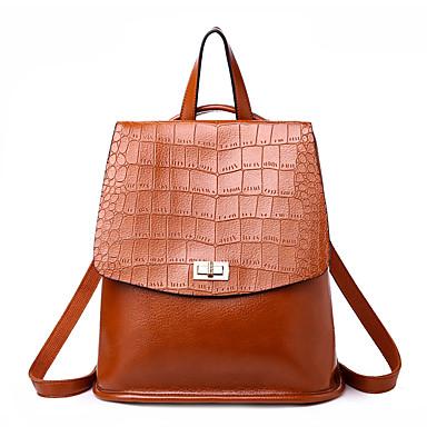 cheap Backpacks-Women's Bags PU(Polyurethane) Backpack Embossed Crocodile Brown / Black