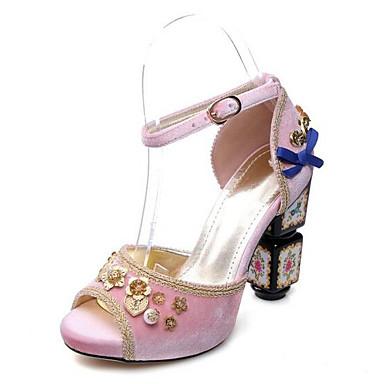 Rose hétérotypique Daim Chaussures Talon Rouge Noir Confort Eté 06856606 Sandales Femme xYzZwpqZ