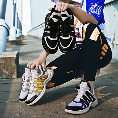 Homme Chaussures de Chaussures confort Polyuréthane Automne Chaussures de d'Athlétisme Course à Pied / Marche Couleur Pleine Noir / Jaune / Bleu d4615e