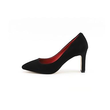 Chaussures Heel Amande Block Talons Noir Chaussures Confort 06848571 Femme à été Daim Printemps PqwS8xzXU