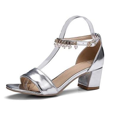 Mujer abierta Dorado Sandalias Tacón Zapatos 06848747 Verano Puntera Cuadrado Morado PU Confort Plata 8w1BOr8x