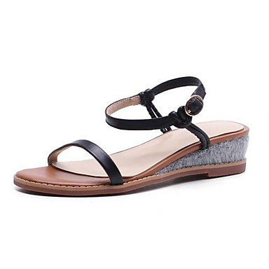 Printemps Chaussures Sandales Talon Nappa Blanc Plat Cuir Noir Femme xCshtrdBQ