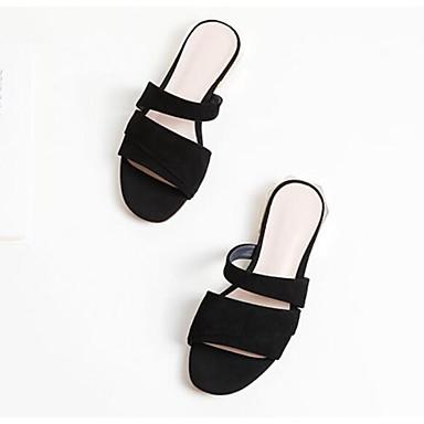 Noir Chaussures Confort Sandales 06863725 Femme Plat Talon Eté Daim PwqdWT0g