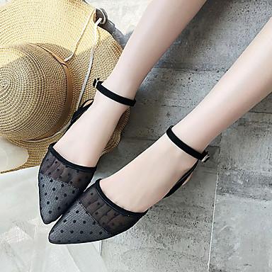 Dedo Talón Negro Confort PU 06863763 Zapatos bloque Sandalias Verano de Puntiagudo Mujer 8qABX