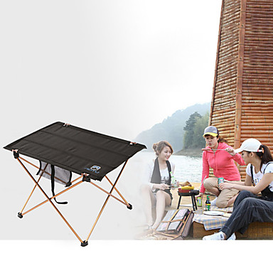 Mesa para camping Al aire libre Portátil, Ligeras, Plegable Aluminio para Pesca / Senderismo / Playa Negro