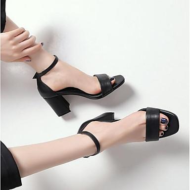 06848596 Nappa Femme Blanc Eté Noir Bottier Sandales Talon Confort Chaussures Cuir gqwvxqHF