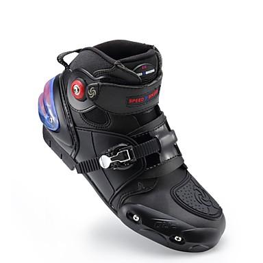 voordelige Beschermende motoruitrusting-rijpriem motorfiets enkellaarzen anti-slip racebeschermende schoenen motorcross motocross off-road motolaars voetbeschermer - zwart
