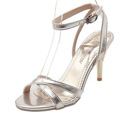 Rojo Stiletto Confort Mujer Amarillo 06849768 PU Zapatos Primavera Sandalias Plata Tacón O4wqCznxYw