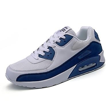Pied Bleu Course Chaussures Femme Chaussures Bout Confort 06858877 Polyuréthane Blanc à Maille d'Athlétisme Talon Rubans Noir Eté Marche rond Plat v8dU8qw
