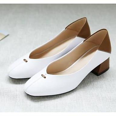 Blanc Nappa Automne Noir Confort à Chaussures Cuir 06858815 Femme Chaussures Bottier Talon Talons Amande 6qTv6