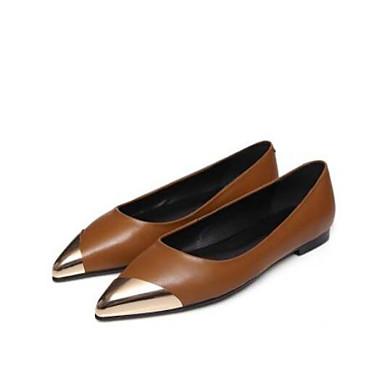 Marron Chaussures fermé Bout Talon Confort Noir Plat Femme Ballerines Eté Cuir Printemps 06841828 Nappa 4AqqR7wp