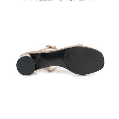 Eté Daim Chaussures 06849760 Talon Bottier Femme Noir Sandales Confort Amande FnEFU