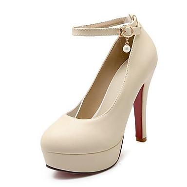Pump Básico Beige PU Mujer Negro Tacón 06840999 Tacones Rosa Stiletto Zapatos Primavera tBtRg