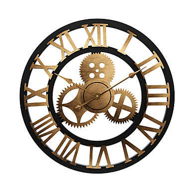 "cheap Wall Clocks-Wall Clock,Modern Contemporary Traditional Wooden Round Indoor / Outdoor Indoor Outdoor 24"" x 24"" (60cm x 60cm) 32"" x 32"" (80 x 80cm) 28"" x 28"" (70 cm x 70 cm)"