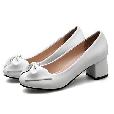 Mujer Stiletto Confort Primavera Zapatos 06841470 Pump Tacones Tacón Negro Básico Microfibra Rosa Blanco 1S1TFHwx