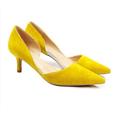 Gris 06841430 Chaussures Escarpin Aiguille Talon Basique Rouge Daim Femme Talons Eté Chaussures à Jaune FpxvOOqw
