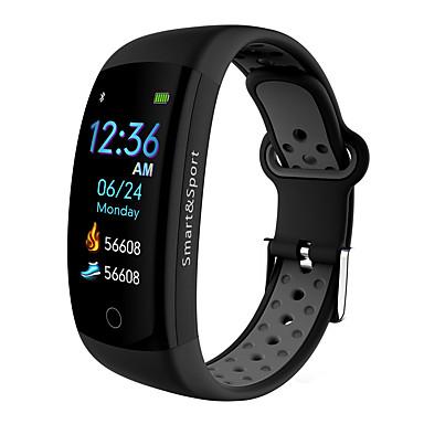 billige Smarte aktivitetsmålere, klips og armbånd-q6 pro smart klokke bt 4.0 buet skjerm fitness tracker støtte varsle og vanntett sport armbånd for android og eple