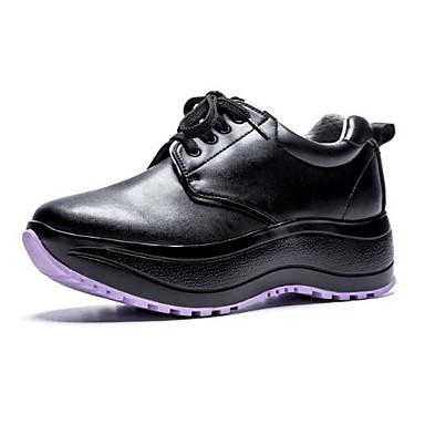 Femme Femme Femme Chaussures de confort Cuir Nappa Printemps / Eté Basket Creepers Bout fermé Blanc / Noir | Outlet Online  69cf2b