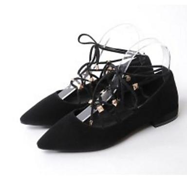 06845218 Plat Talon Confort amp; de Chair Ballerines Peau Automne Printemps mouton Chaussures Femme Rose Noir Tw0q6Wvzfw