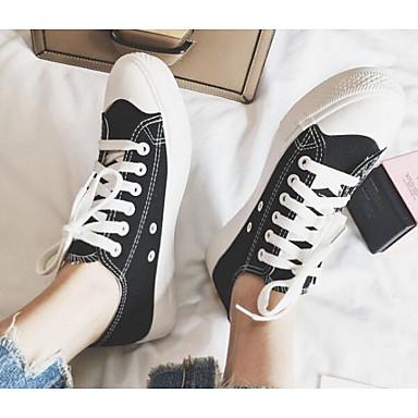 les chaussures de confort au printemps et et et à l'été de baskets en toile croûton blanc / noir / jaune 56b061