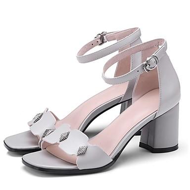 Femme Talon Cuir Chaussures 06862201 clair Nappa Sandales Bottier Noir Eté Gris Confort rxr5wCqY
