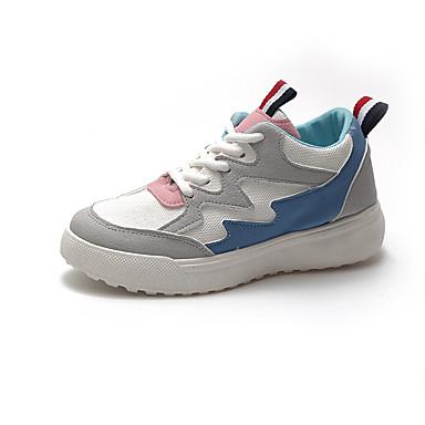 Mujer Dedo Zapatillas Negro Rosa 06853979 Plano deporte invierno Otoño Malla Confort Zapatos Azul redondo Tacón de vaHqv7r