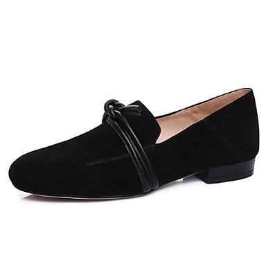 Nappa 06856950 Eté Confort Plat Vin et Chaussures D6148 Printemps Bout Talon fermé Noir Chaussons Cuir Amande Mocassins Femme HxTEFqRwp