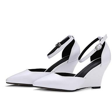 Blanc Nappa Escarpin Eté Chaussures Rose Talons de Cuir à semelle Femme Hauteur 06865058 Noir Basique compensée 45qw7pta