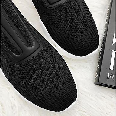 fermé Printemps Maille Chaussures Eté Bout Femme Noir Plat Confort Talon Rouge 06856963 Basket qzpExxw