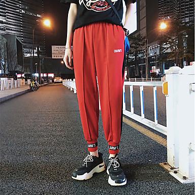 4cba7ca0dc3e Ανδρικά Βράκα Jogger Pants Παντελόνι για στίβο Μαύρο Κόκκινο Αθλητισμός  Συνδυασμός Χρωμάτων Παντελόνια Παντελόνια Φούστες Τρέξιμο