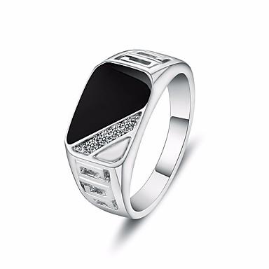 voordelige Dames Sieraden-Heren Ring Zegelring 1pc Goud Zilver Legering Rechthoekig Eenvoudig Casual / Sporty Modieus Club Bar Sieraden mismatched Creatief Cool