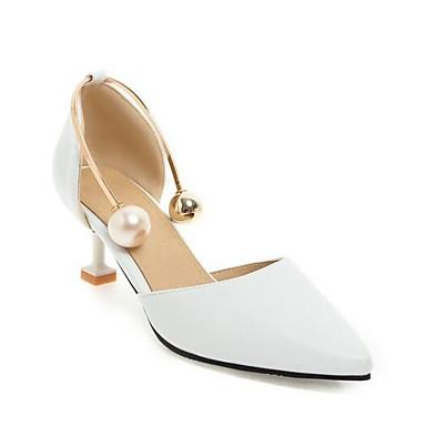 Zapatos Tacón Tacones Amarillo Stiletto Rosa Confort Negro PU 06850014 Primavera Mujer Uw7nqHfq