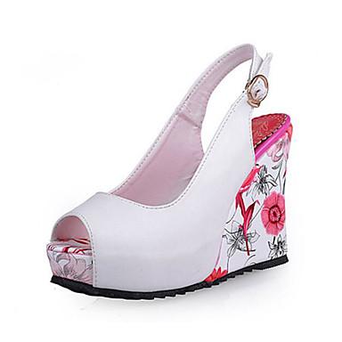 de Noir Amande Hauteur Polyuréthane été 06843220 compensée Sandales semelle Printemps Chaussures Femme Blanc Confort 0P4B4w