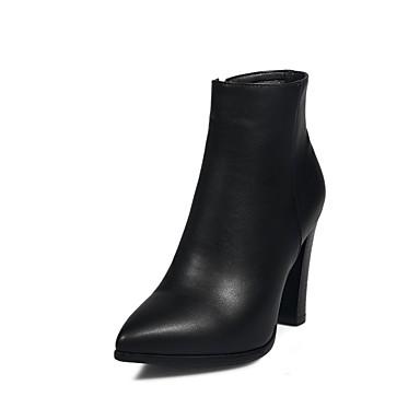 Femme Femme Femme Chaussures de confort Polyuréthane Automne hiver Bottes Talon Bottier Noir / Marron / Vin | Bon Marché  86ca0d
