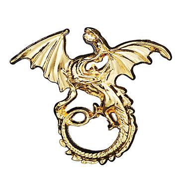 abordables Epingles & Broches-Homme Zircon Broche Rétro Tendance Dinosaure Dragon Créatif Gros Fantaisie Punk Rome antique Broche Bijoux Dorée Argent Bronze Pour Halloween Mascarade