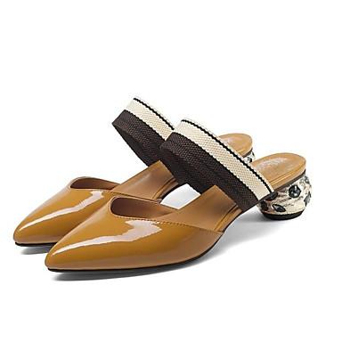 Nappa Sabot Blanc hétérotypique Cuir Mules 06841440 Noir Talon amp; Eté Marron Femme Chaussures Confort ETqxzF