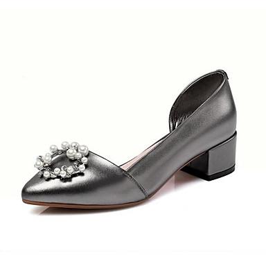 Bottier à Chaussures Femme Confort Talon Blanc Nappa 06862551 Noir Talons Printemps Cuir Argent Chaussures YzfYRH