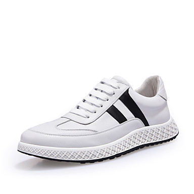 Men's Fall Nappa Leather Spring / Fall Men's Comfort Sneakers White / Black 1b08b0