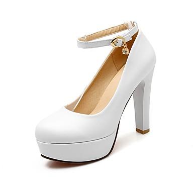 Printemps Rose été 06850009 Confort Chaussures Polyuréthane Talons Blanc Aiguille Talon Chaussures à Femme Bleu 7qUEwAxn