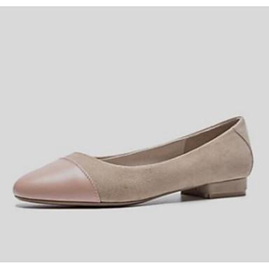 Noir Talon de clair Confort dragée Ballerines Peau Rose Femme amp; 06845262 Chaussures Printemps Plat Automne clair Gris mouton zPwWB1x