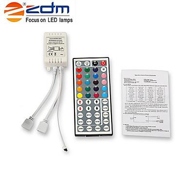 ZDM® 2x5 milhões Conjuntos de Luzes 2*150 LEDs 5050 SMD 1 controlador remoto de 44 teclas RGB Cortável / Decorativa / Auto-Adesivo 12 V 1conjunto