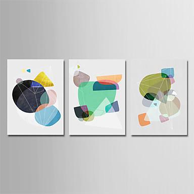 abordables Toiles-Imprimé Impression sur Toile - Forme Géometrie & Flèches Moderne Trois Panneaux Art Prints