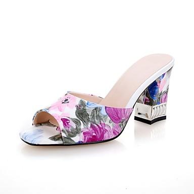 Women's Comfort Shoes PU(Polyurethane) Spring & Summer Sandals Sandals Summer Chunky Heel Purple 391198