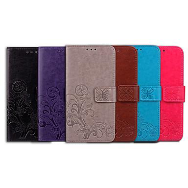 Etui Til Apple iPhone 6 / iPhone 6s Kortholder / Flip Fuldt etui Ensfarvet / Mandala-mønster Blødt PU Læder for iPhone 6s / iPhone 6