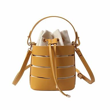 cheap Top Handles & Tote Bags-Women's Bags PU(Polyurethane) Tote Solid Black / Yellow / Khaki