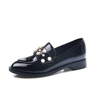 Mocassins Nappa Cuir D6148 Chaussons Bout Plat Chaussures 06850363 Talon et Confort Eté Noir fermé Printemps Femme fAFYCqwB