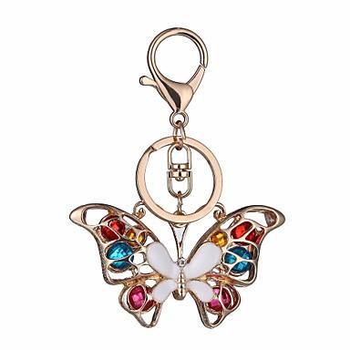 povoljno Privjesci za ključeve-Privjesak Rukav leptir Crtići Šarene Modno prstenje Jewelry Rose Gold Za Spoj Praznik