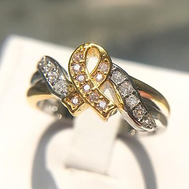 Χαμηλού Κόστους Μοδάτο Δαχτυλίδι-Γυναικεία Κλασσικό Κομψό Δαχτυλίδι Χαλκός Επιμεταλλωμένο με Πλατίνα Προσομειωμένο διαμάντι Καρκίνος Ελπίδα κυρίες Μοναδικό Μοντέρνα Μοδάτο Δαχτυλίδι Κοσμήματα Ουράνιο Τόξο Για Καθημερινά Επίσημο 6